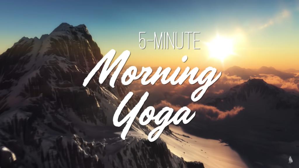 Morning yoga