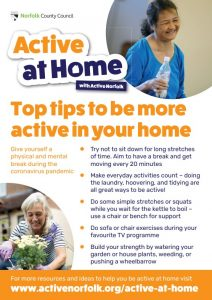 Active at home top tips