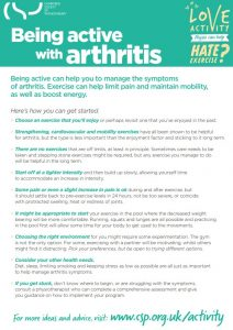 Being active with arthritis