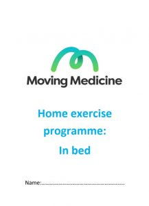 Home exercise plan - in bed