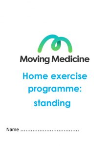 Home exercise plan - standing