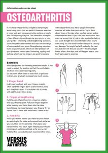 Osteoathritis exercises