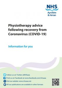 Physiotherapy for recovery from Coronavirus