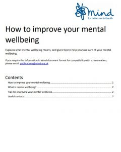Mind mental wellbeing